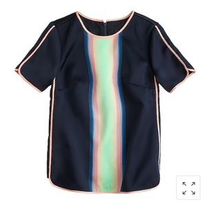 J. Crew Collection Surf Stripe Top Size 4